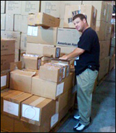 Jeremy Bluestein with Boxes